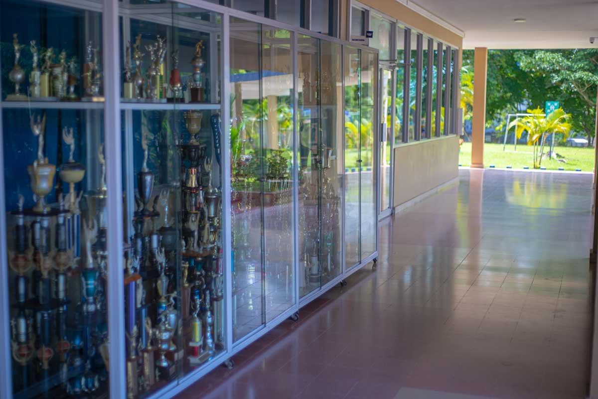 Área de trofeo del Colegio Internacional de María Inmaculada